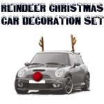 Reindeer Christmas Car Decoration Set