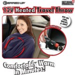 12 Volt Heated Travel Throw