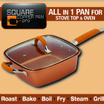 Square Copper Pan Pro 5 Piece