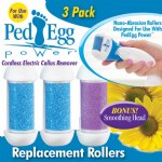 Ped Egg Power Replacement Rollers