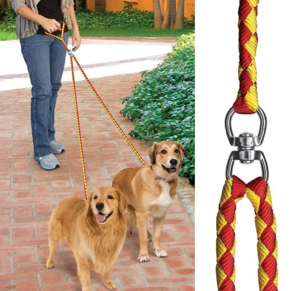 No-Tangle Dual Leash
