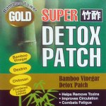 Gold Super Bamboo Vinegar Foot Detox Patches