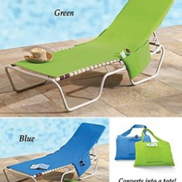 Beach Lounge Chair Cover With Side Pockets As Seen On Tv