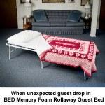 iBED Memory Foam Rollaway Guest Bed