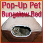 Popup Pet Bungalow Bed