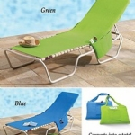 Beach Lounge Chair Cover with Side Pockets