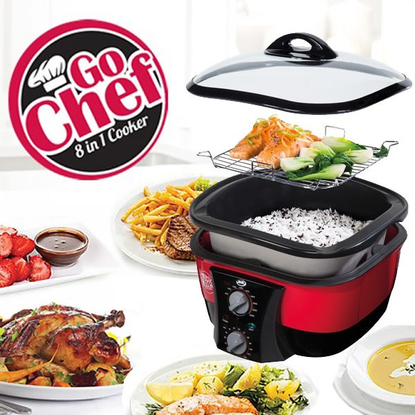 go chef 8 in 1 cooker as seen on tv. Black Bedroom Furniture Sets. Home Design Ideas