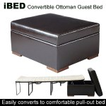 iBED Convertible Ottoman Guest Bed