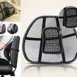Mesh Back Support Rest with Massage Pegs