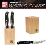 Miracle Blade World Class Series 8 Steak Knives with Mini Block