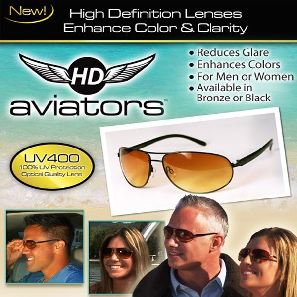 HD Vision Aviators Sunglasses