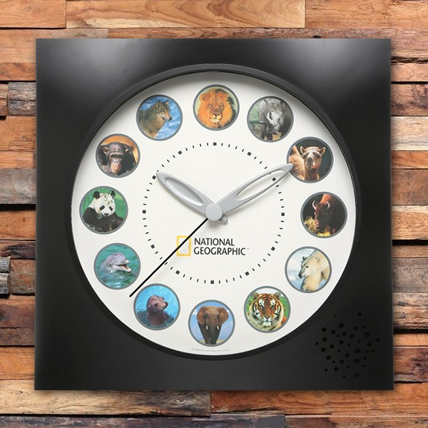 National Geographic Animal Wall Clock