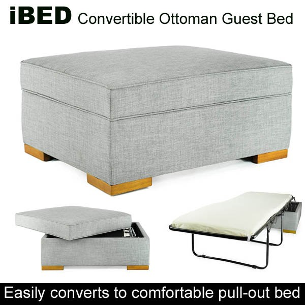 Incredible Ibed Convertible Ottoman Guest Bed Grey Cjindustries Chair Design For Home Cjindustriesco