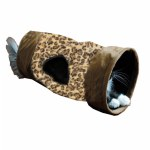 Leopard Print Crinkle Cat Tunnel