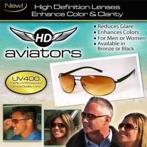 HD Vision Aviator Sunglasses
