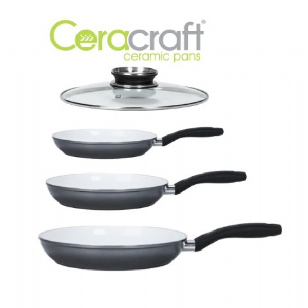 Ceracraft Ceramic Pans 4 Piece Set As Seen On Tv