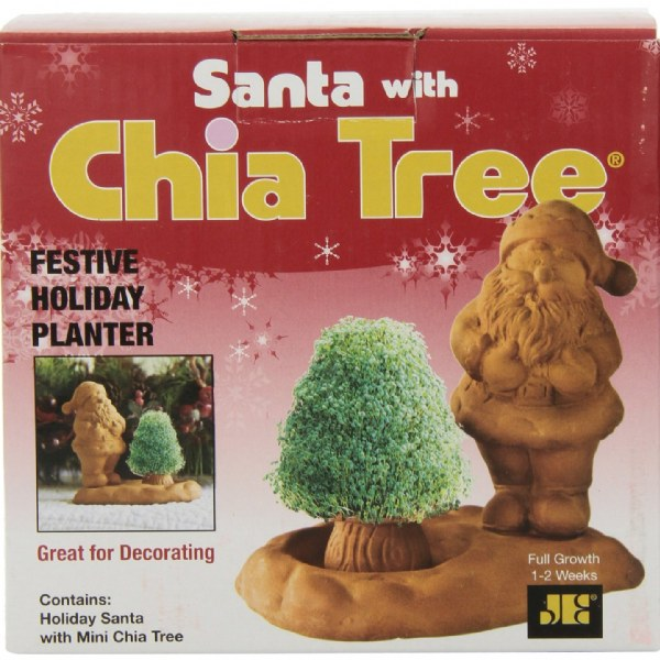Santa with Chia Tree
