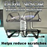 Dual Visor Eyeglasses Holder