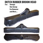 Dutch Rubber Broom Head