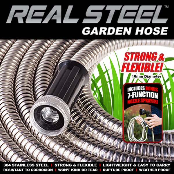 Real Steel Garden Hose