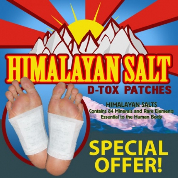 Himalayan Salt Magnetic Foot Detox Patches