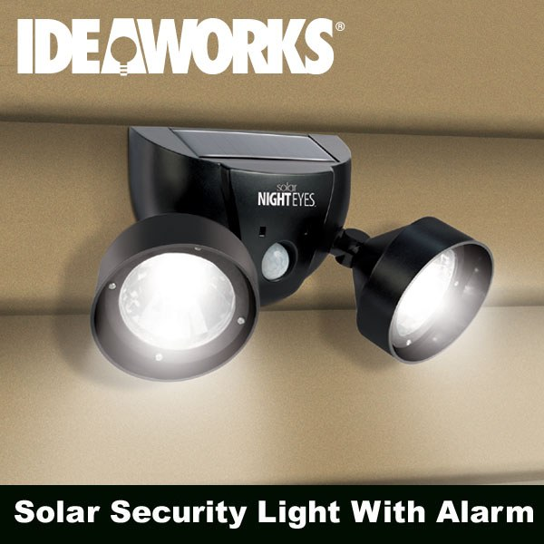 Solar Night Eyes Security Light with Alarm