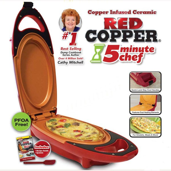 Red Copper 5 Minute Chef As Seen On Tv