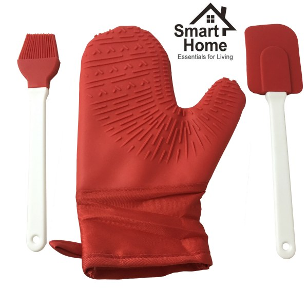 Silicone Oven Mitt and Bonus Brush