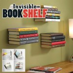 Invisible Floating Book Shelf