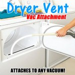 Dryer Vent Vac Attachment