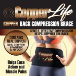 Copper Life Compression Back Brace