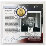 Kennedy Half Dollar Framed with Photo